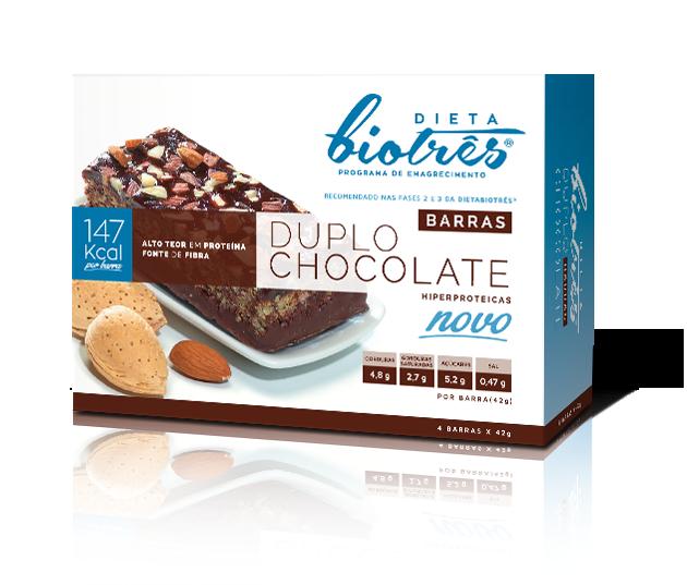 barra duplo chocolate dieta biotrês