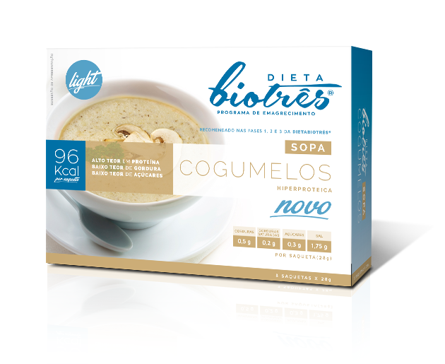 sopa de cogumelos dieta biotrês