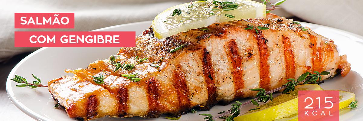 salmão com gengibre