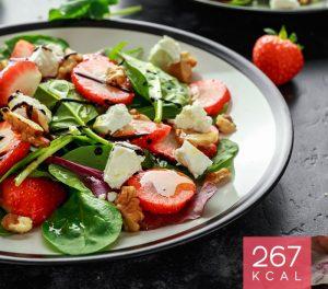 Salada de Morangos com Queijo Fresco