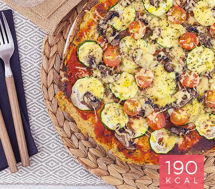 Pizza de Couve Flor com Frango