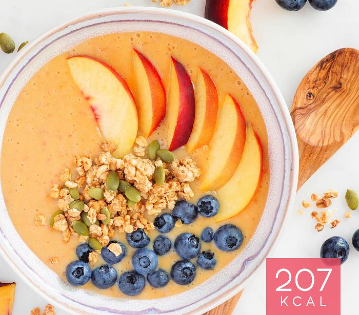 Bowl de Pêssego com Cereais Frutos Vermelhos Dieta Biotrês®