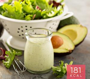 Salada de Chicória com Dip de Abacate