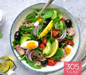 Salada de Atum com Ovo e Abacate